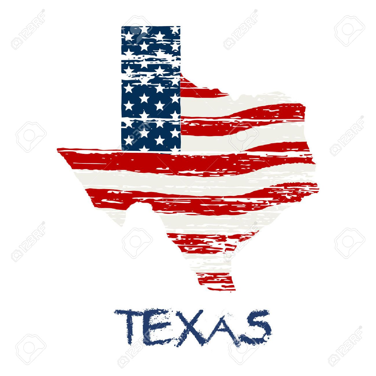 American Flag In Texas Map Vector Grunge Style Royalty Free - Usa texas map