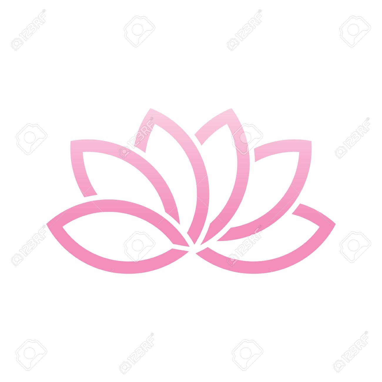Lotus flower logo vector illustration royalty free cliparts lotus flower logo vector illustration stock vector 74131187 mightylinksfo