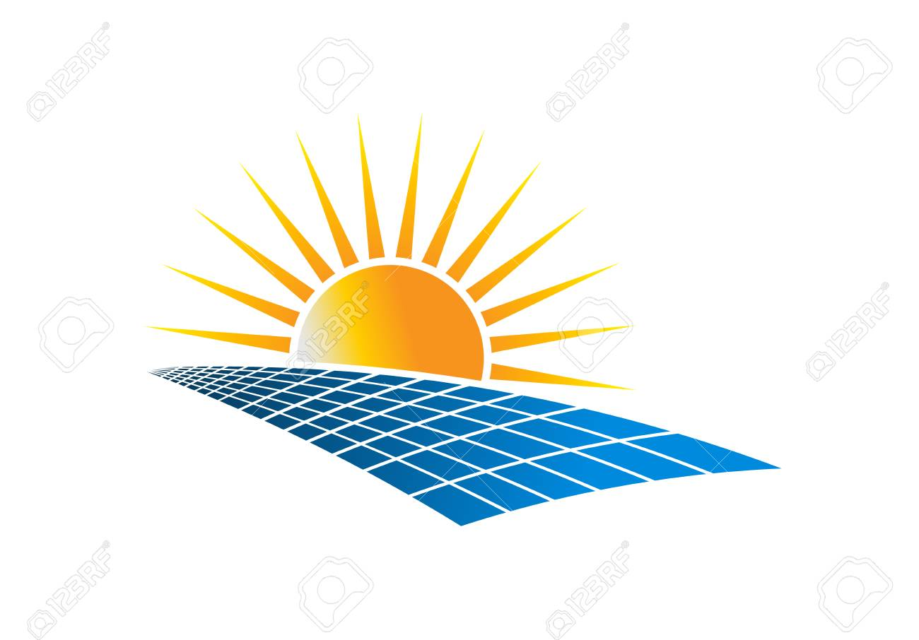 Solar Power Energy Logo Vector Illustration in white background - 92801581