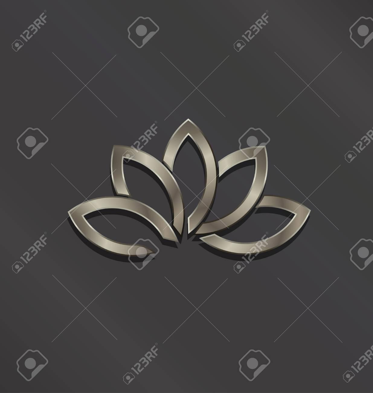 Platinum lotus flower logo vector icon stock photo picture and platinum lotus flower logo vector icon stock photo 99836912 izmirmasajfo