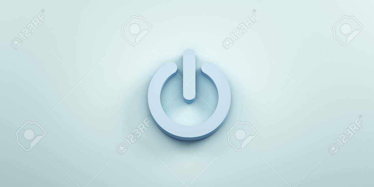 Power On Off Technology 3d Render Illustration Stock Photo