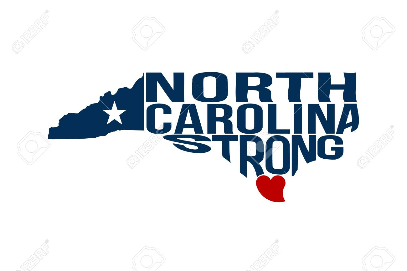 North Carolina Strong Map Logo Vector Illustration Royalty Free Cliparts Vectors And Stock Illustration Image 107979257