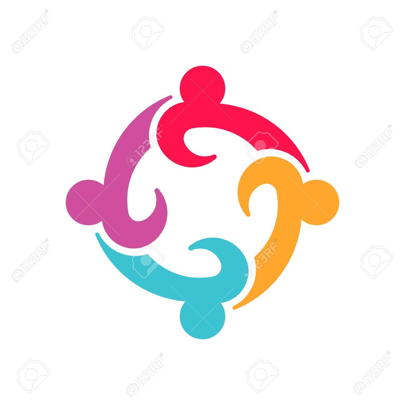 Four Entrepenurs teamwork people logo design - 115757807