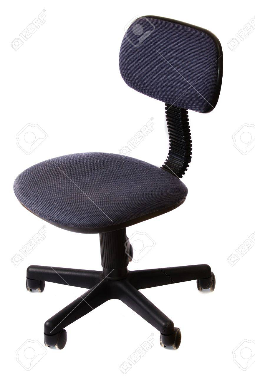 White Rolling Chair Basic Rolling Office Chair Dark Blue Over White Stock Photo