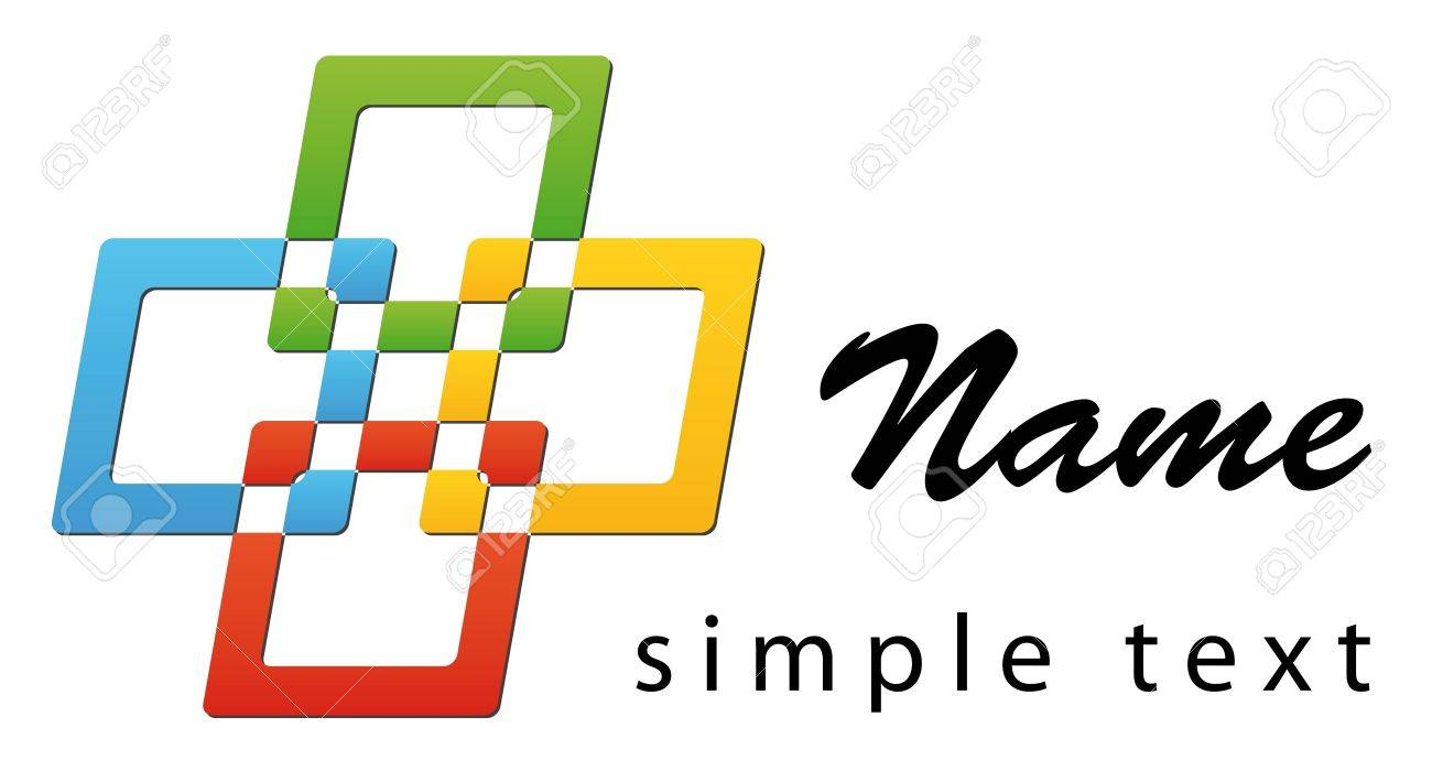 A business logo with four bright colours Stock Photo - 6309883