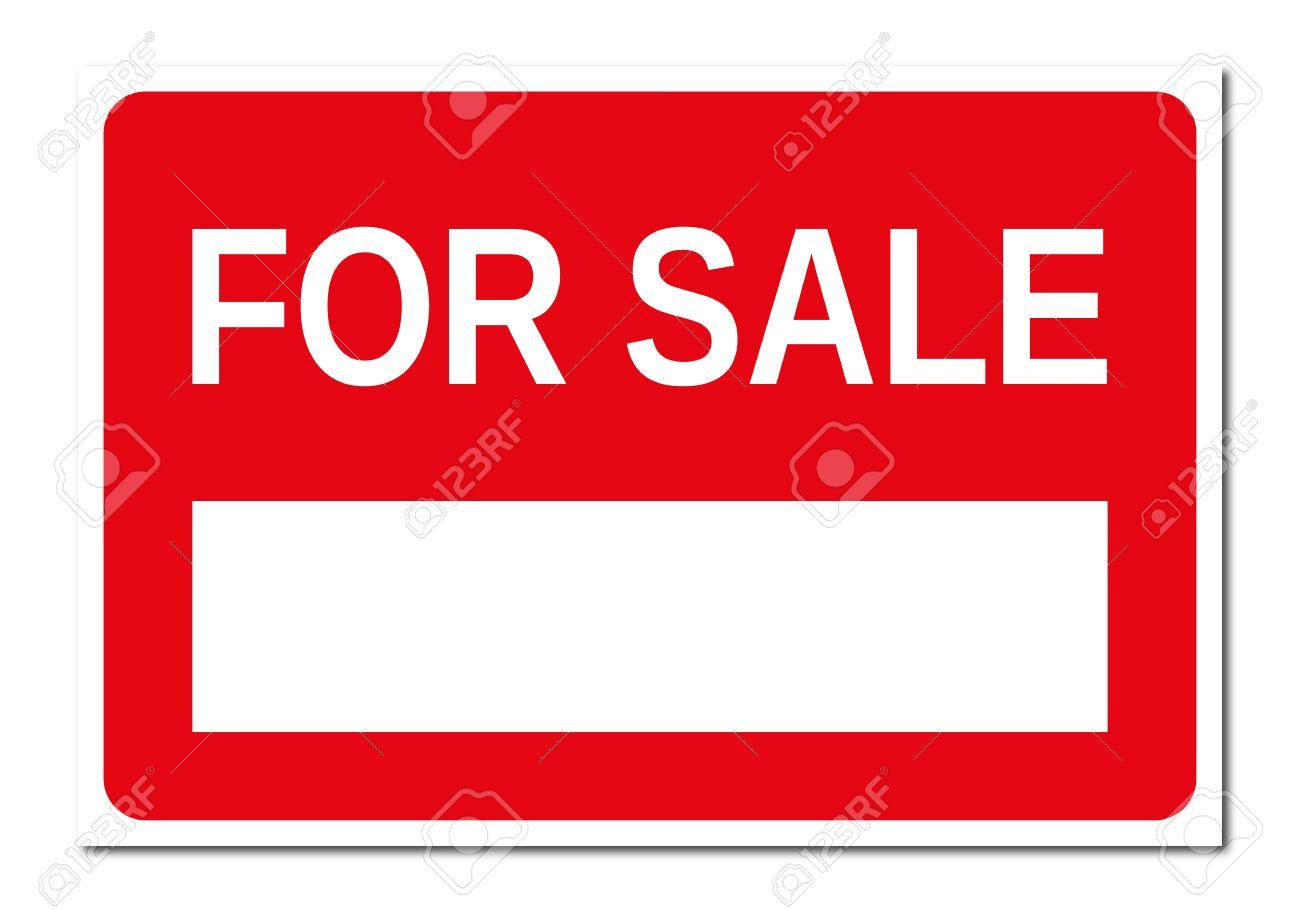 Immobilien Rot-weißen Schild Zu Verkaufen Lizenzfreie Fotos, Bilder ...