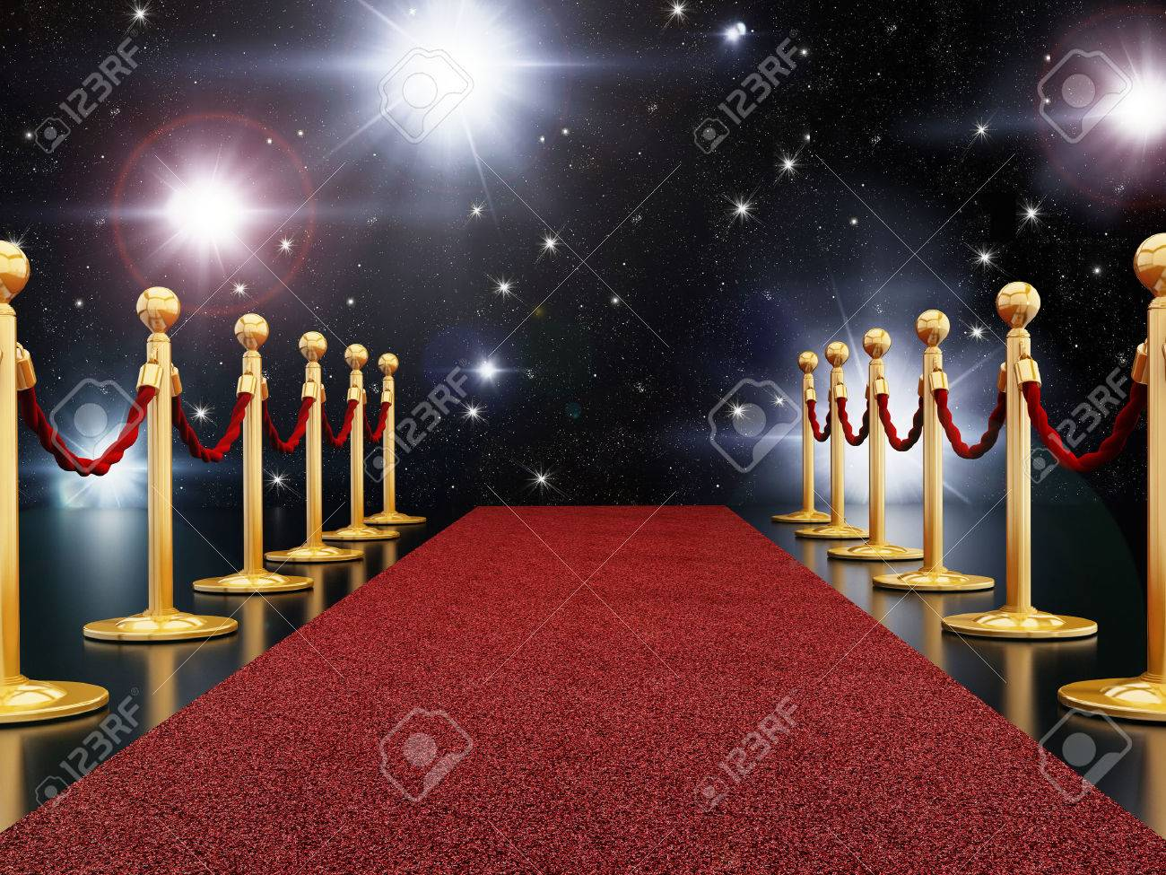 Red carpet night Stock Photo - 29269415