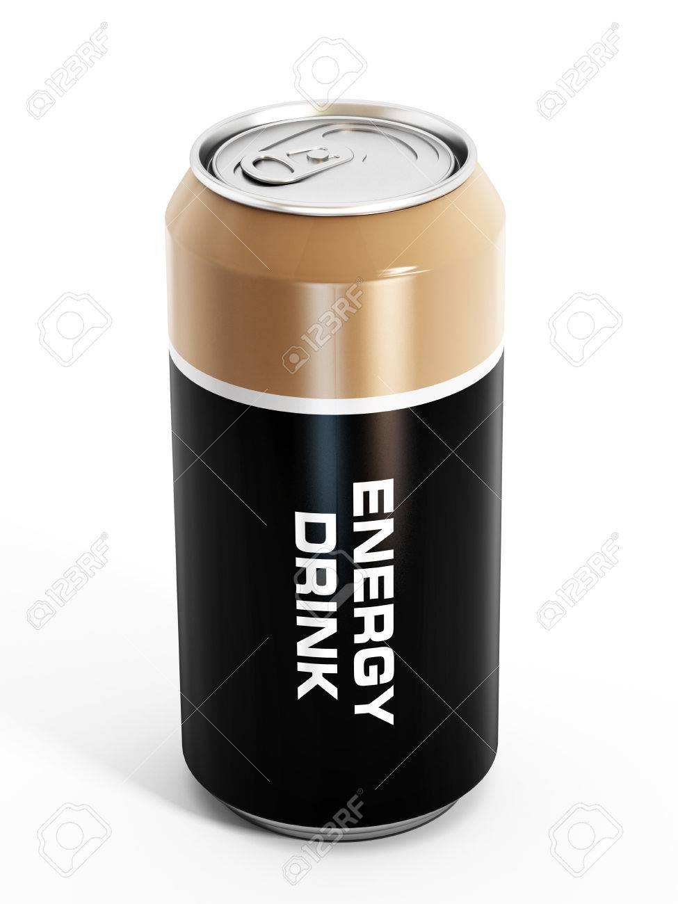 Energy drink can isolated on white background. - 35104788