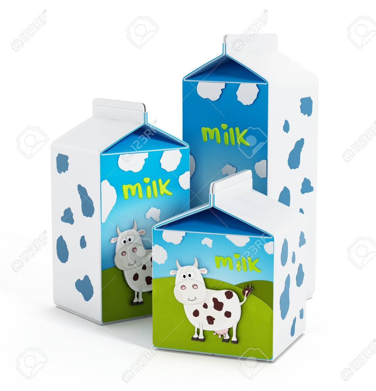 Milk bottles Stock Photo - 36491990