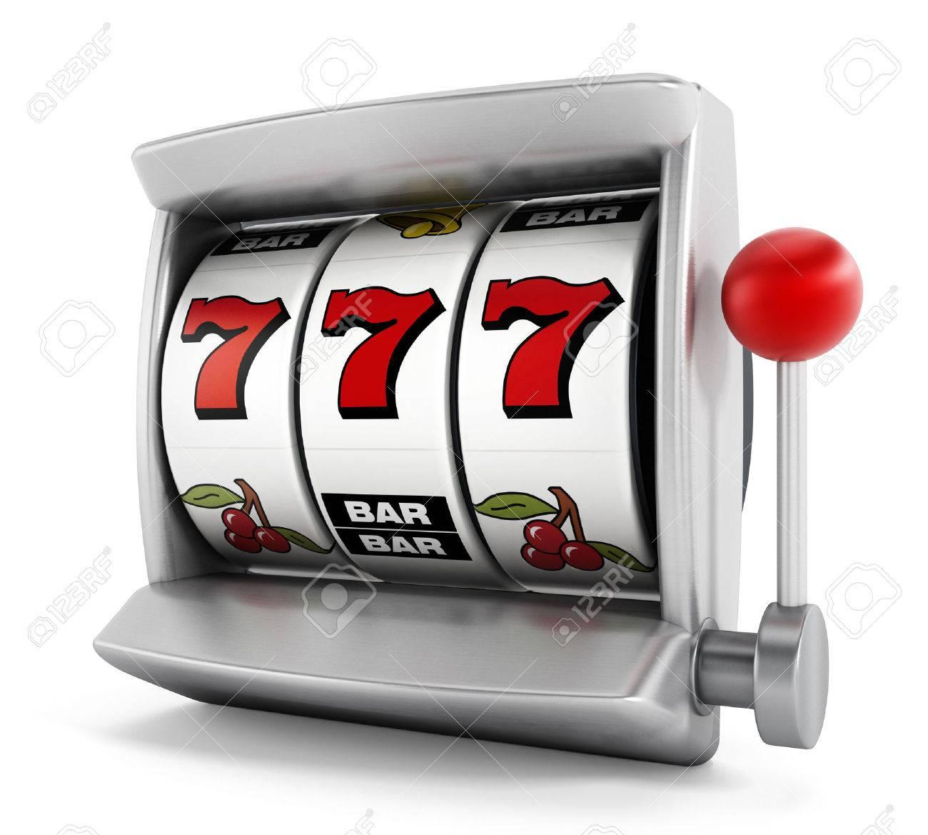 Slot machine with three seven Stock Photo - 37936279