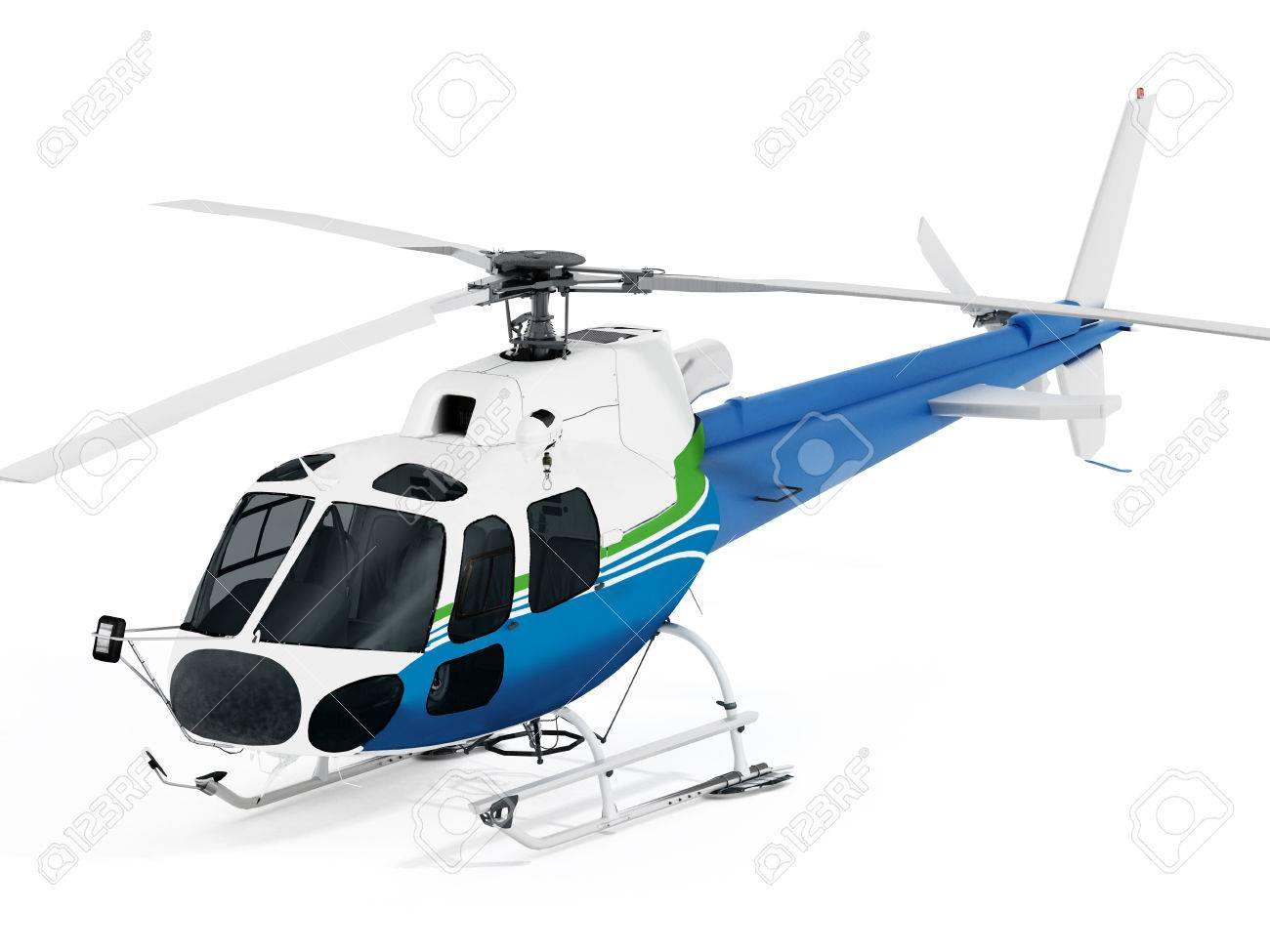 Helicopter isolated on white background. Stock Photo - 49034725