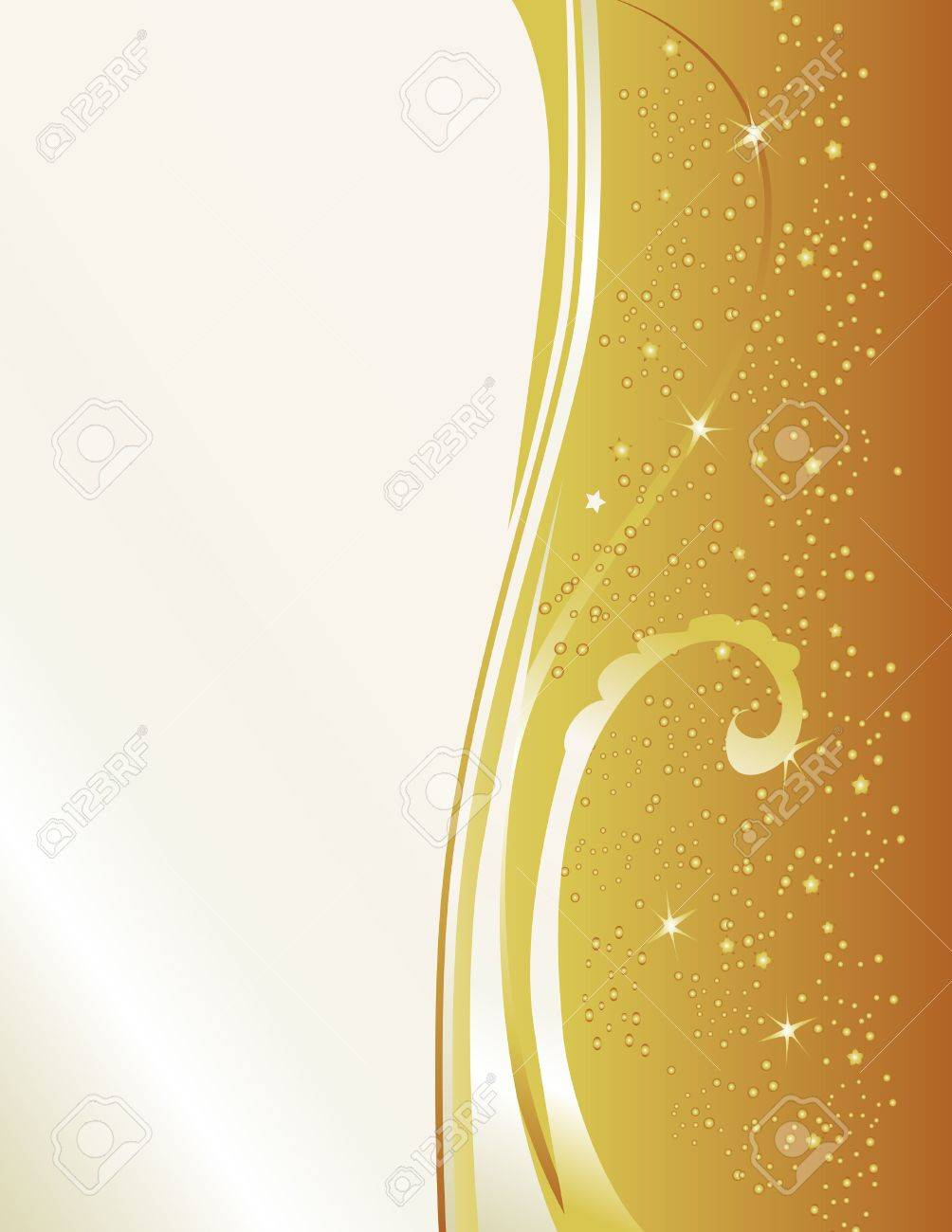 Celebrate with this gold & pearl new years inspired background. Features star bursts and a cascade of sparks. Stock Photo - 3995788