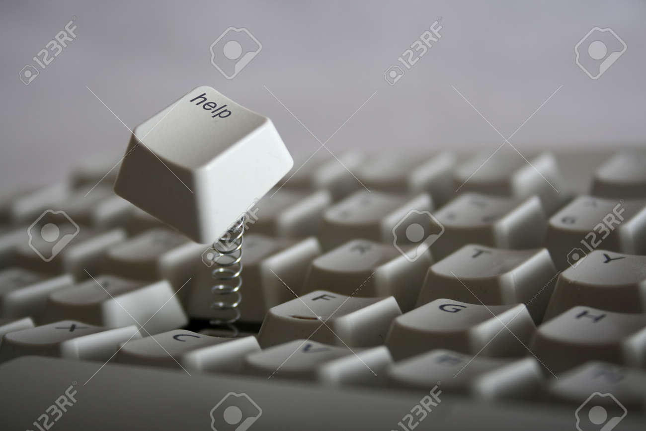 Help key jumping out of keyboard with a spring red colored help key jumping out of keyboard with a spring red colored version also available stock biocorpaavc Choice Image