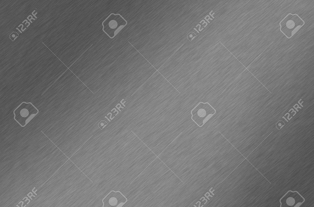 Shiny brushed aluminum/chrome texture. Background. Stock Photo - 7132250