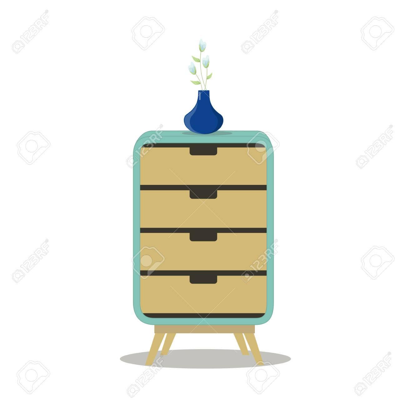 Gabinete Moderno Del Organizador Del Cajón. Muebles Caseros. Ejemplo ...