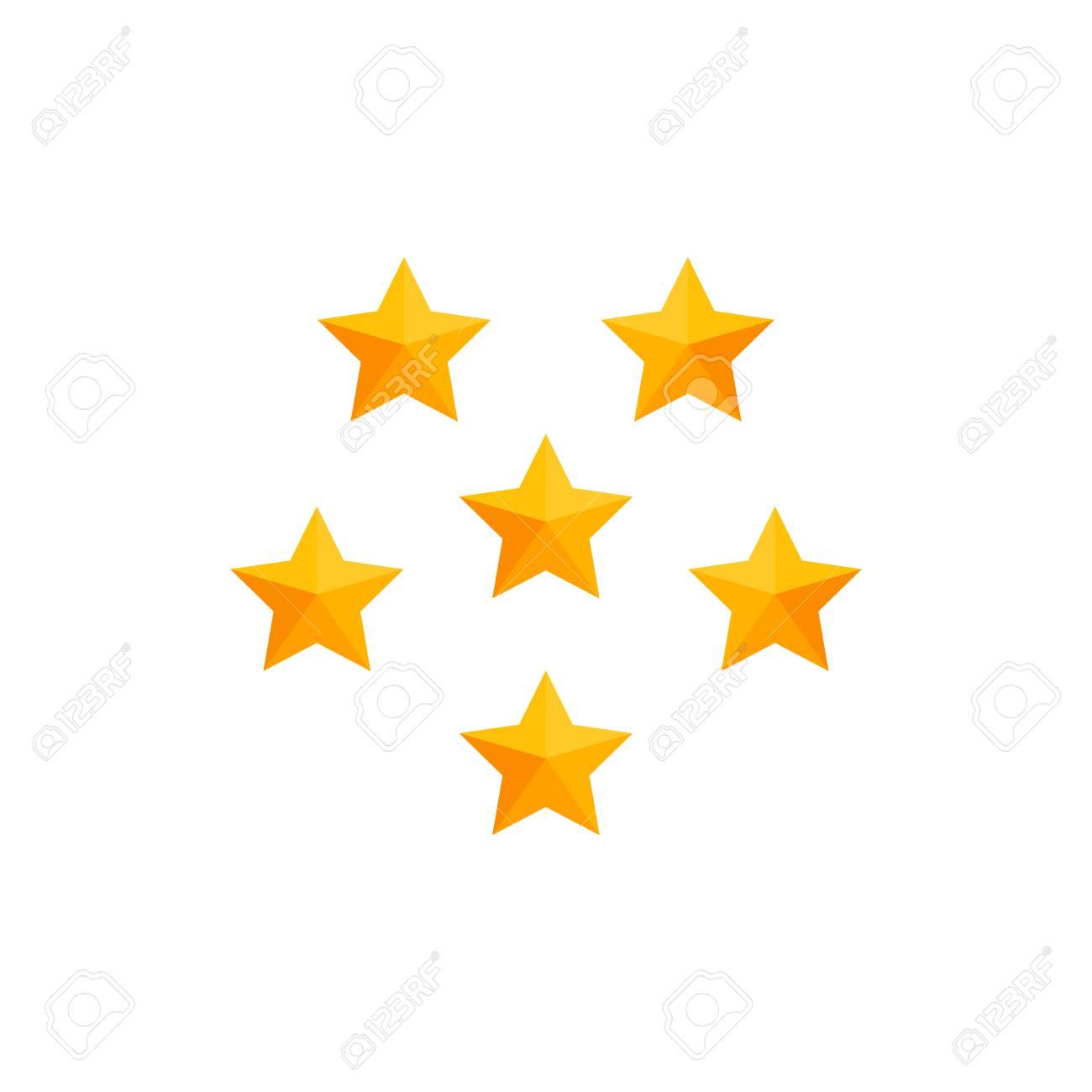 Einfache Ikone Der Stern-Symbol-Design-Schablone, Geschäfts-Konzept ...