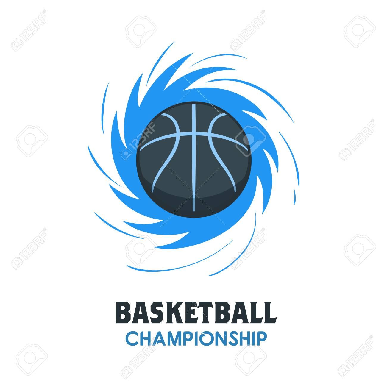 silhouette of basketball ball basketball logo template using