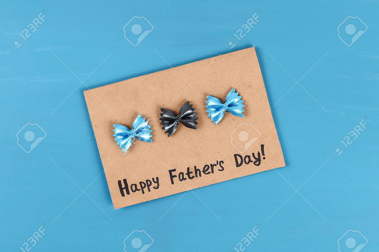 9 Diy Greeting Card Father S Dad Day From Pasta Form Bow Tie