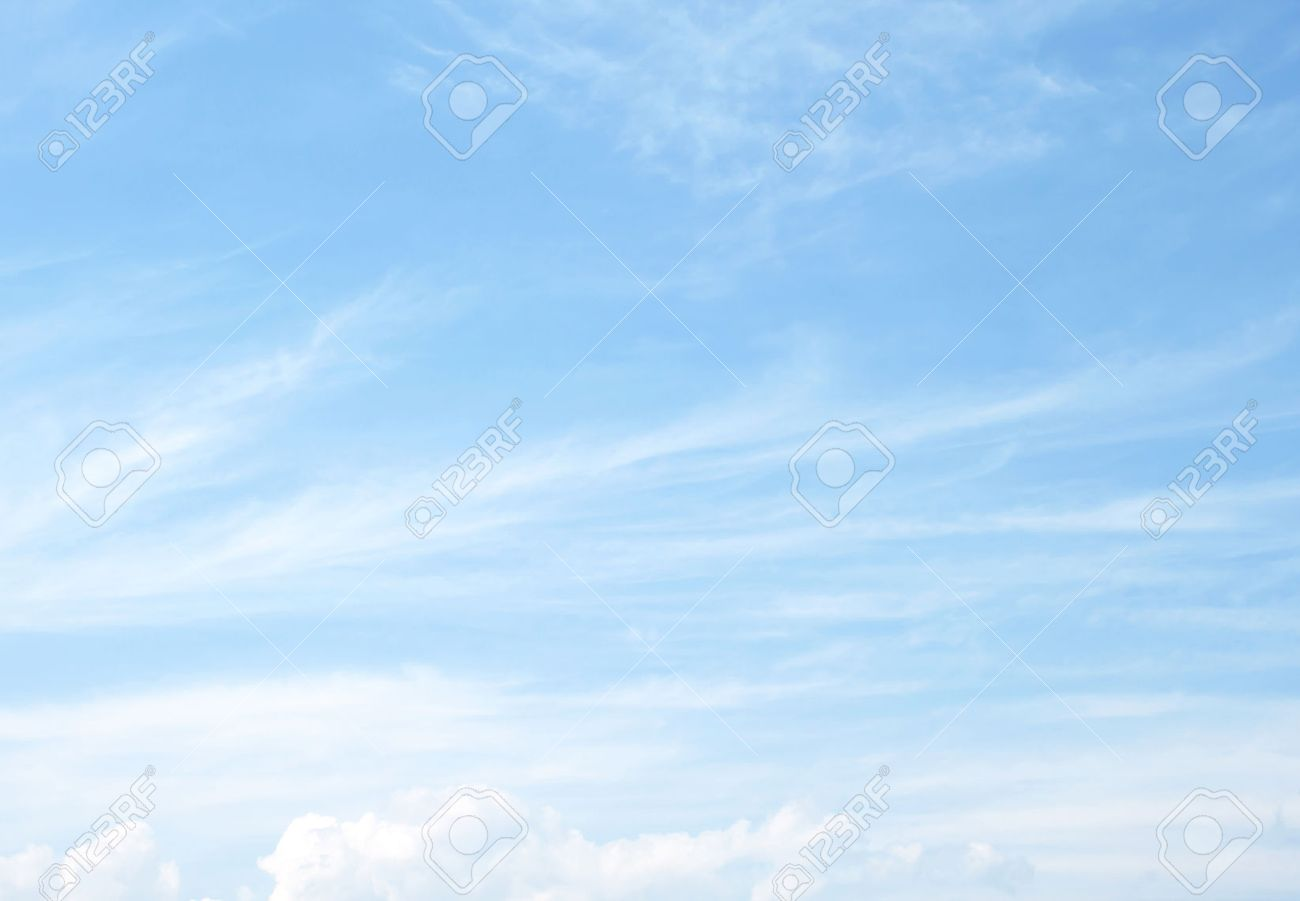 The vast blue sky and clouds sky - 53248993