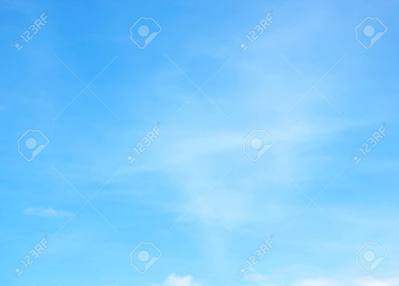 Blue sky with white clouds background nature - 130036222