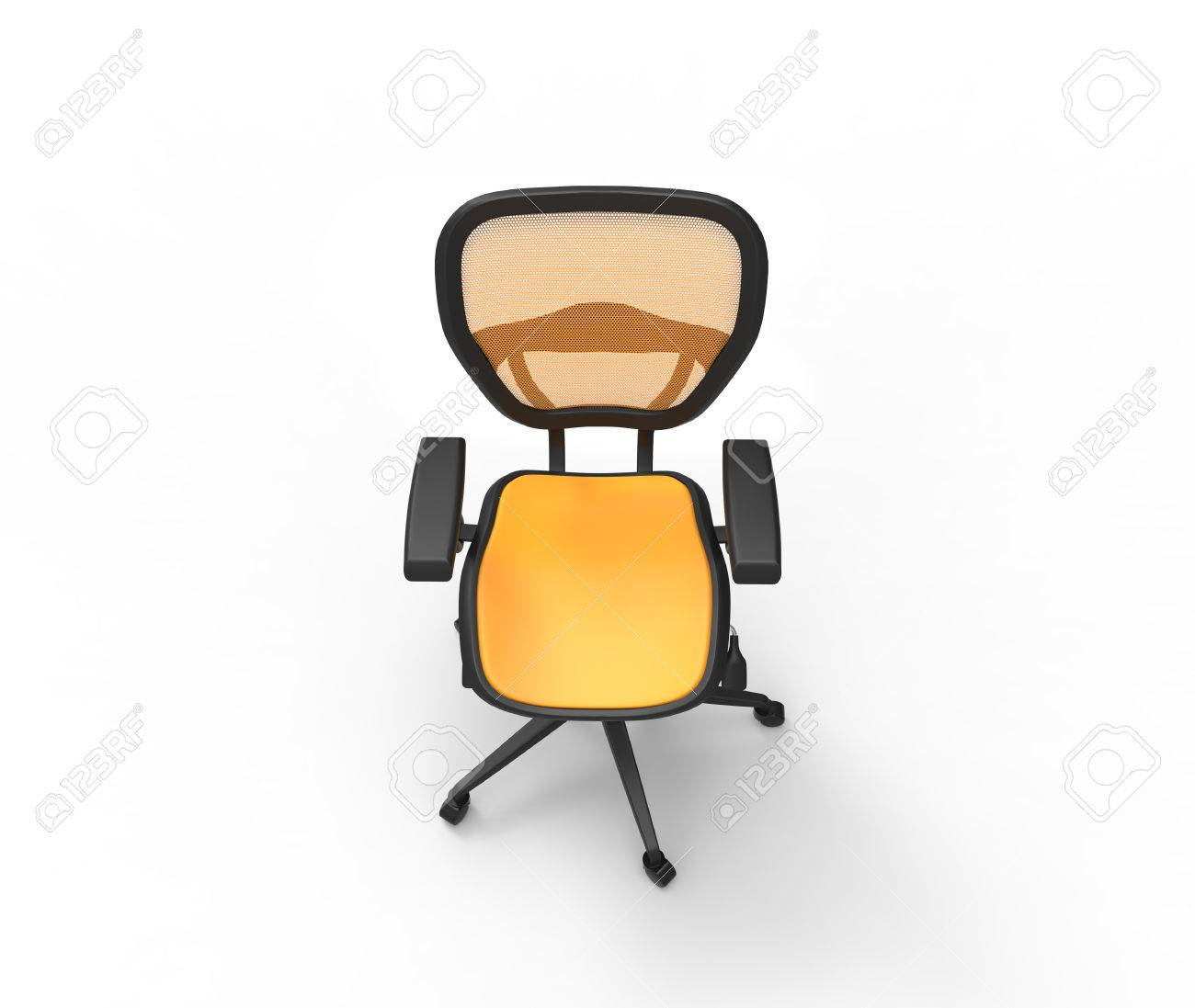 Orange Office Chair Top View Stock Photo, Picture And Royalty Free ...