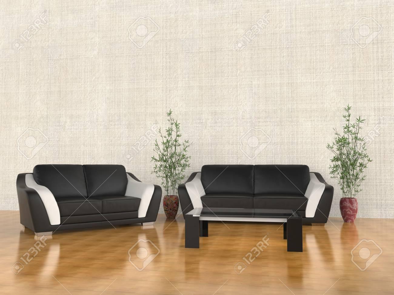 Warm Wohnzimmer Möbel Set Standard Bild   44859762