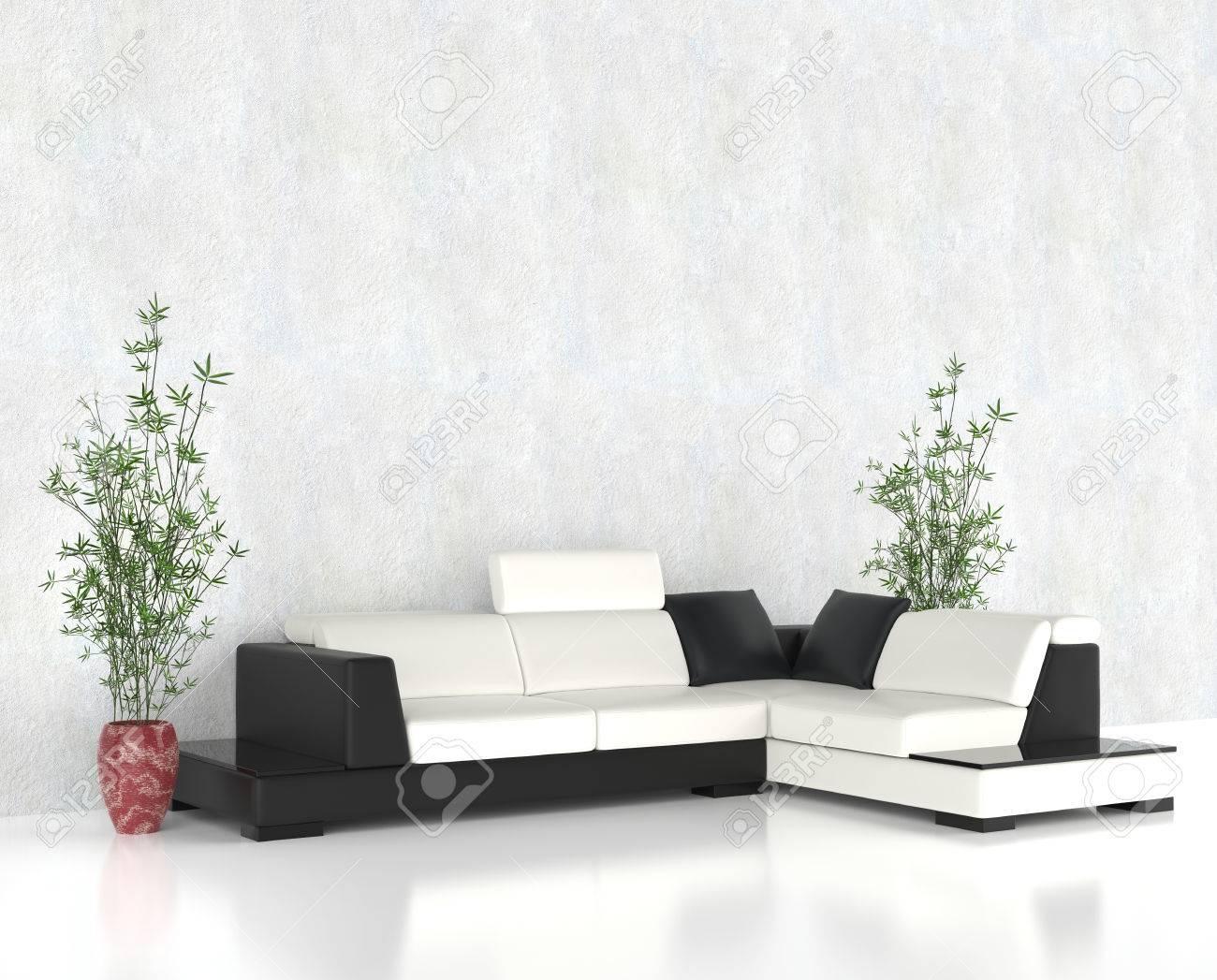 Wunderbar Modernes Helles Wohnzimmer Möbel Set Standard Bild   44766410