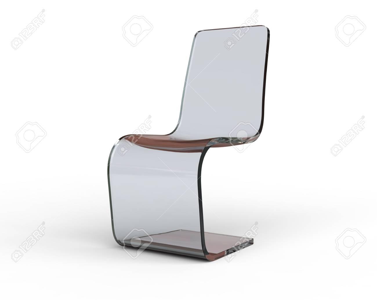 Sedia Di Plastica Moderna Isolato Su Sfondo Bianco Vista Frontale