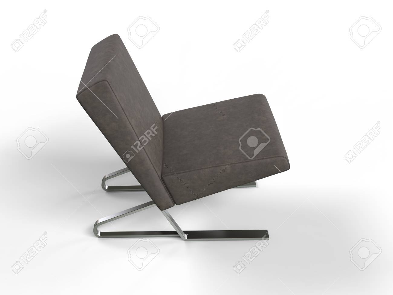 modern brown leather armchair top view stock photo 50115163 arm chair34 chair