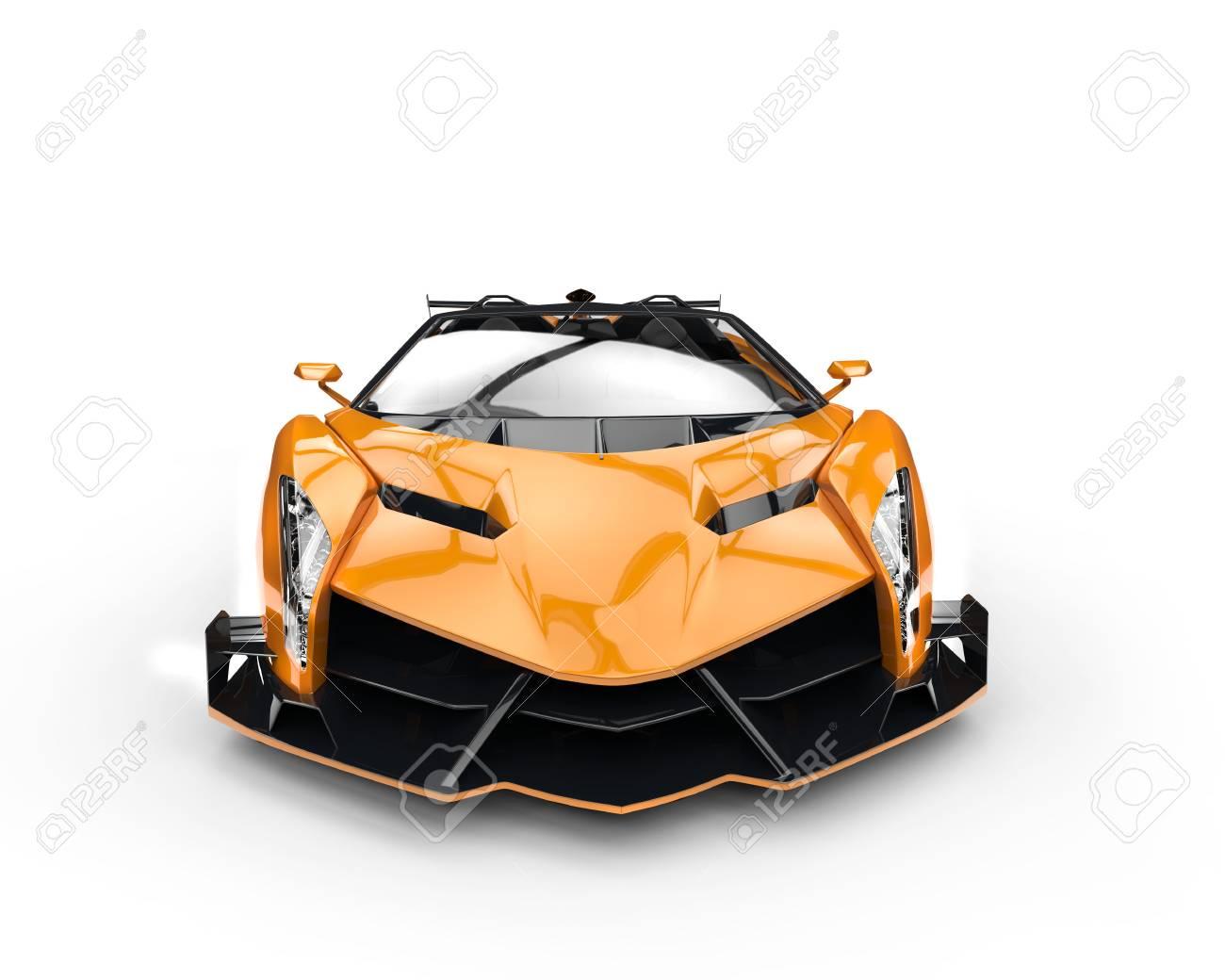 Immagini stock arancione corsa supercar studio di illuminazione
