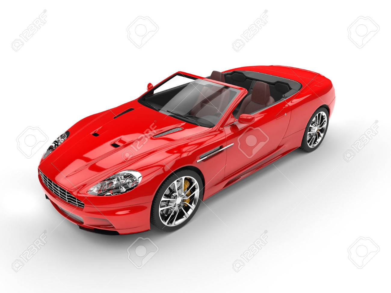 Red Convertible Sports Car Top View Stock Photo Picture And Royalty Free Image Image 54729825