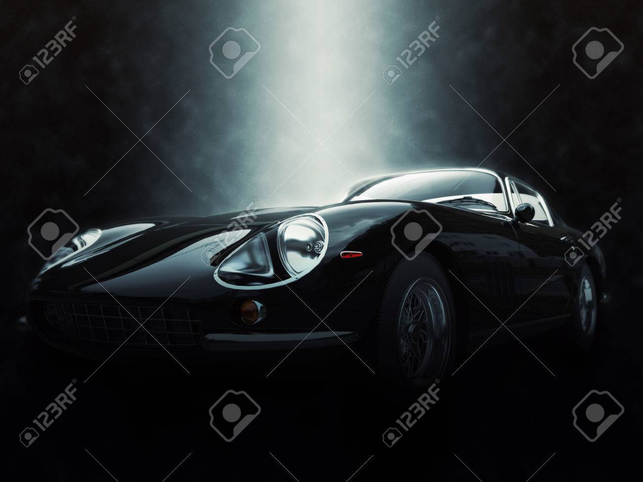 Black classic sports car - epic lighting effect - 3D Illustration Stock Illustration - 58924297 : epic lighting - www.canuckmediamonitor.org