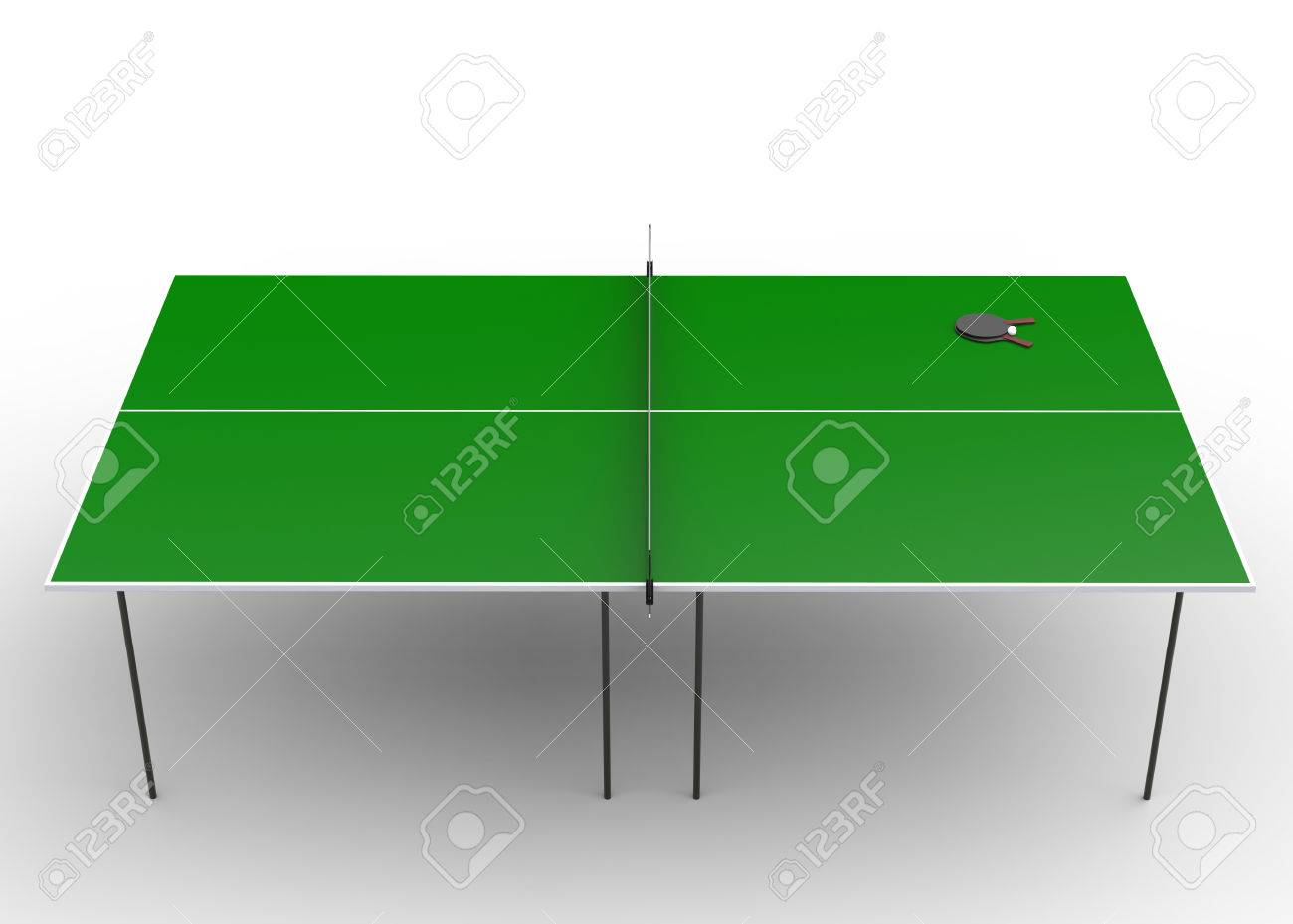 Exceptionnel Ping   Pong Table Top View   3D Render   On White Background Stock Photo