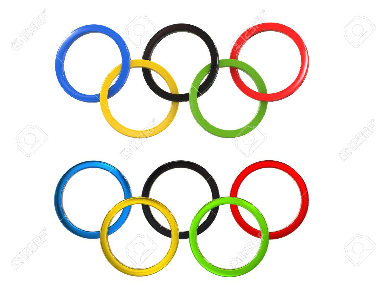 Olympic Games Symbol Two Variations Of The Famous Symbol Stock