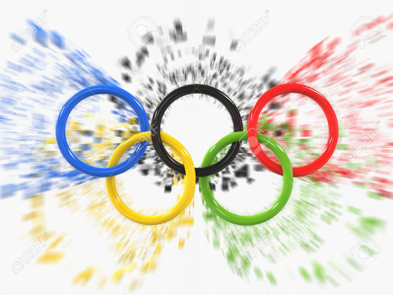 Olympic games rings zoom pixel effect 3d illustration stock olympic games rings zoom pixel effect 3d illustration stock photo 62235723 biocorpaavc Images