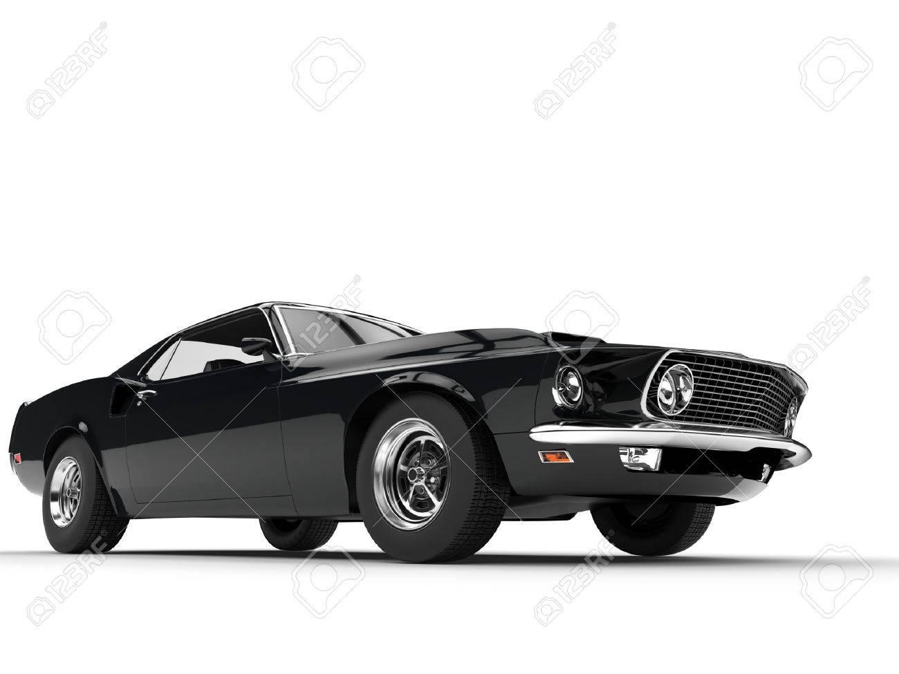 große muscle car - low angle power shot lizenzfreie fotos, bilder