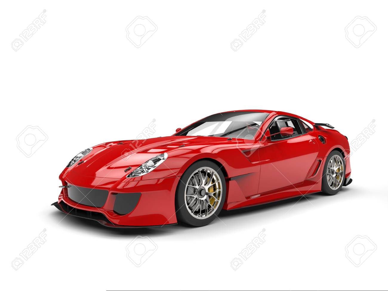 Fire Red Modern Fast Sports Car Stock Photo Picture And Royalty