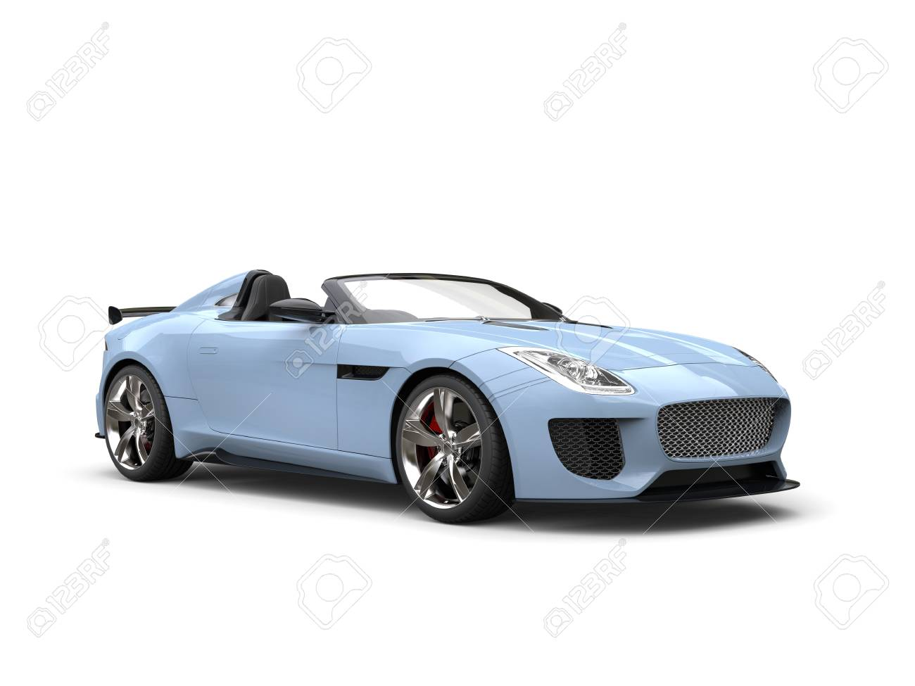 Light Blue Modern Cabrio Spots Car Stock Photo Picture And Royalty Free Image Image 77464173