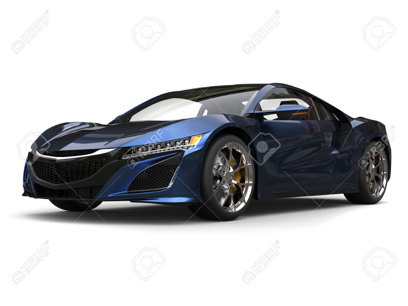 Pearlescent Car Paint >> Super Concept Sports Car Pearlescent Black And Blue Paint Stock