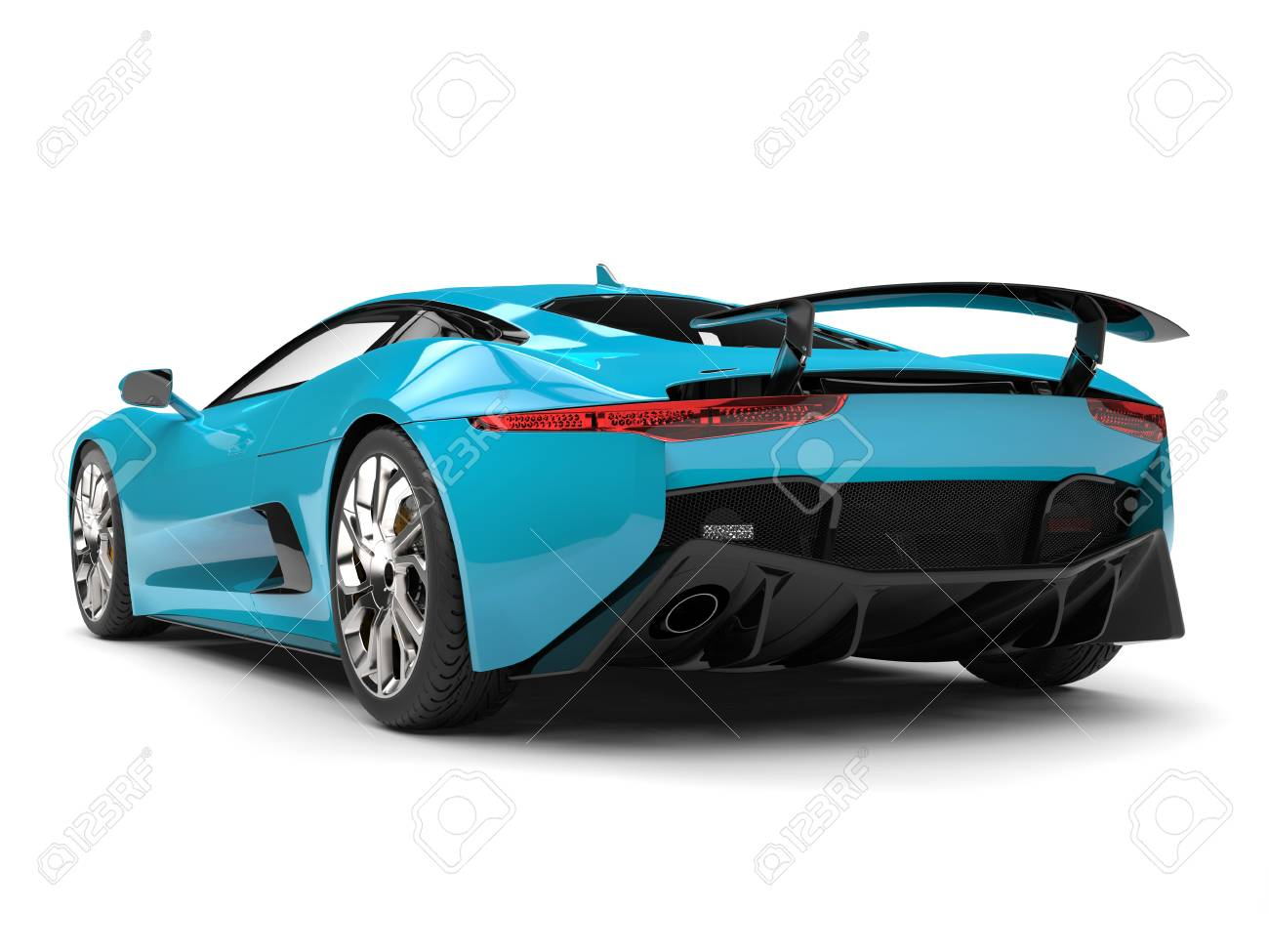 Dark Turquoise Sports Car