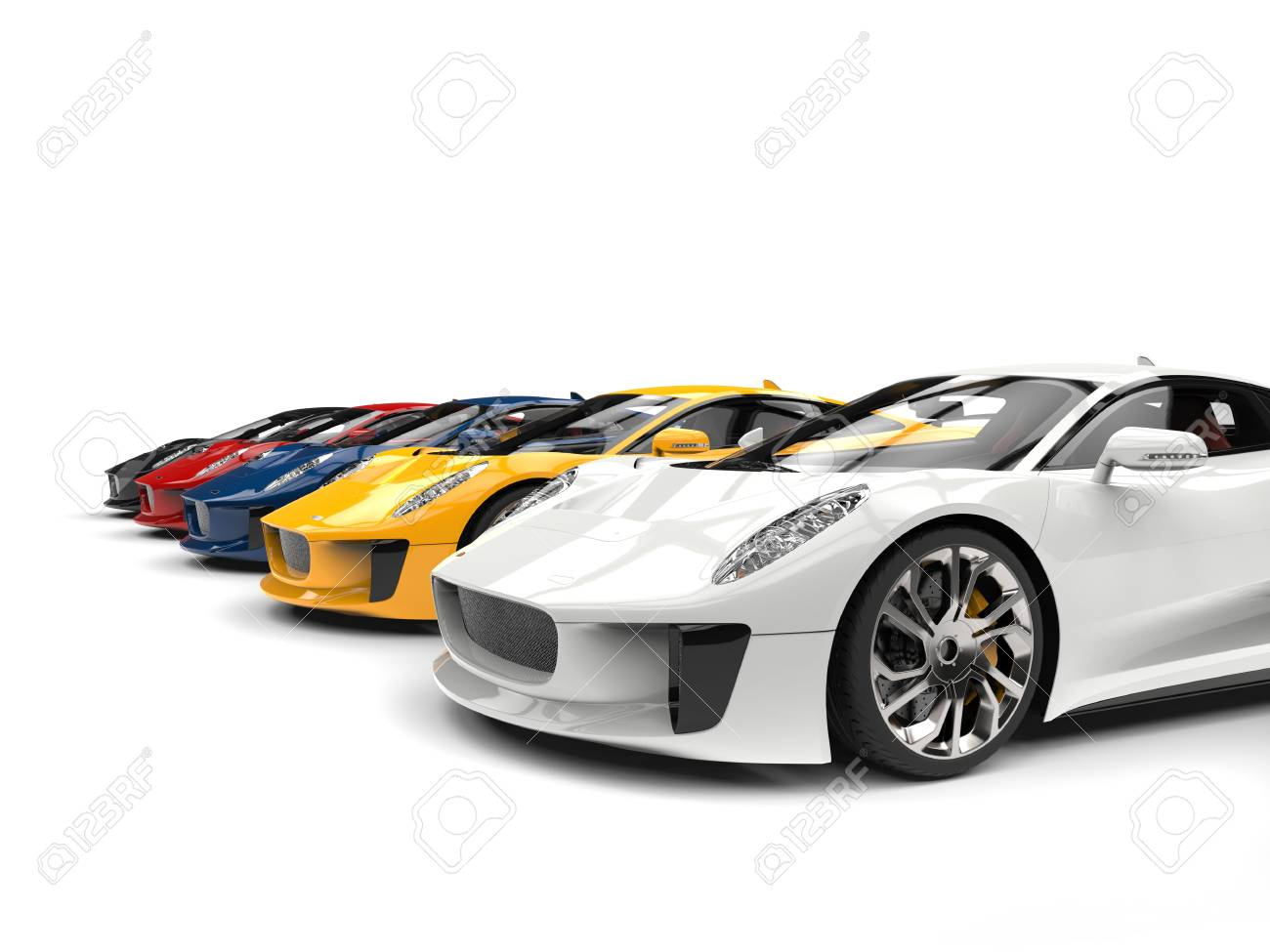 Cool Super Sports Cars In All Base Colors Stock Photo   80170420