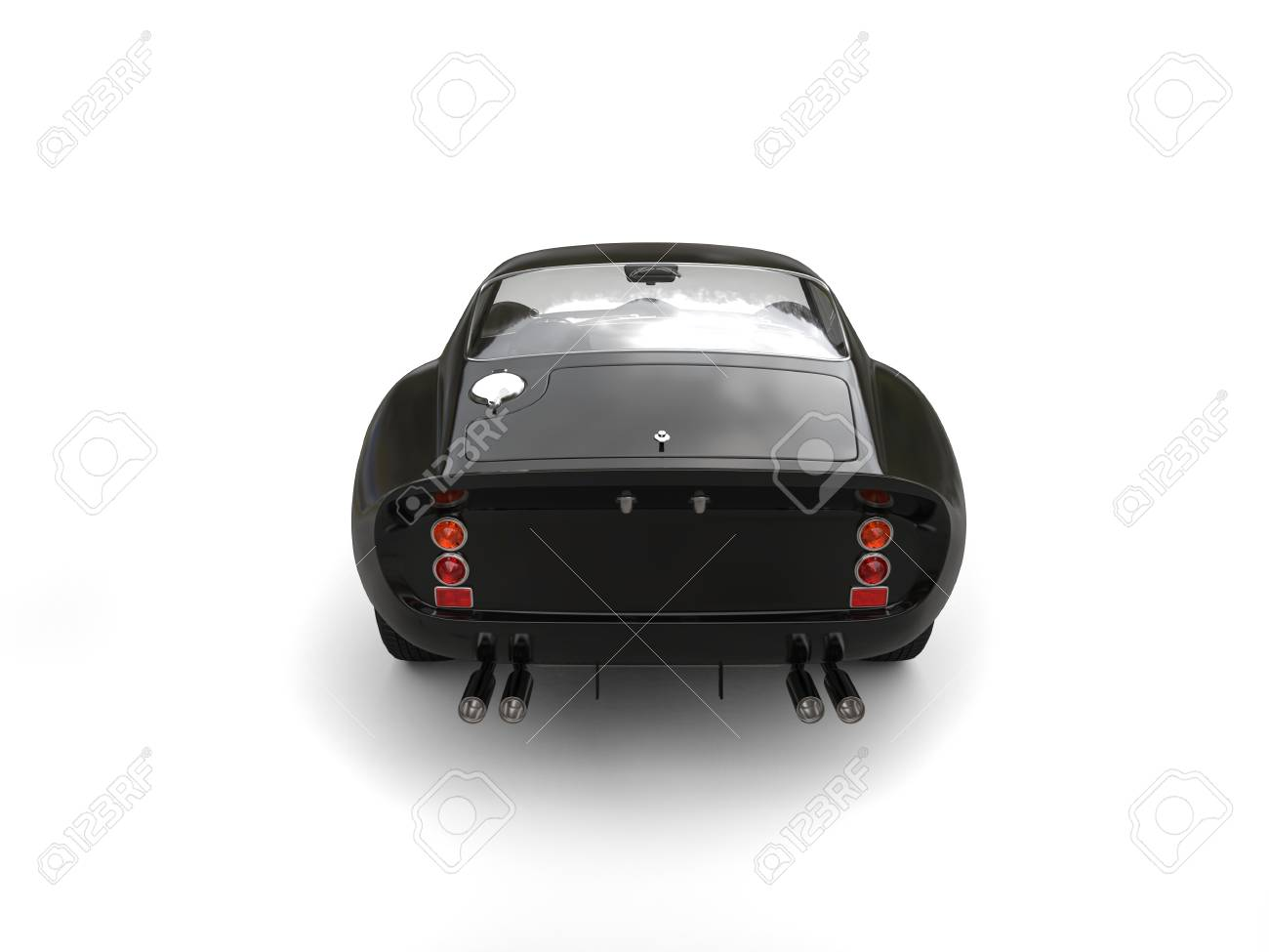 Car Back Top View >> Black Vintage Race Car Top Back View Stock Photo Picture And