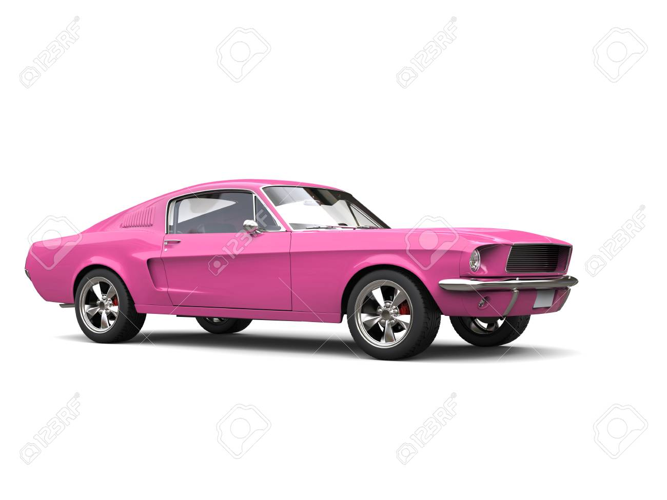 Beautiful Warm Pink Vintage American Muscle Car Stock Photo, Picture ...