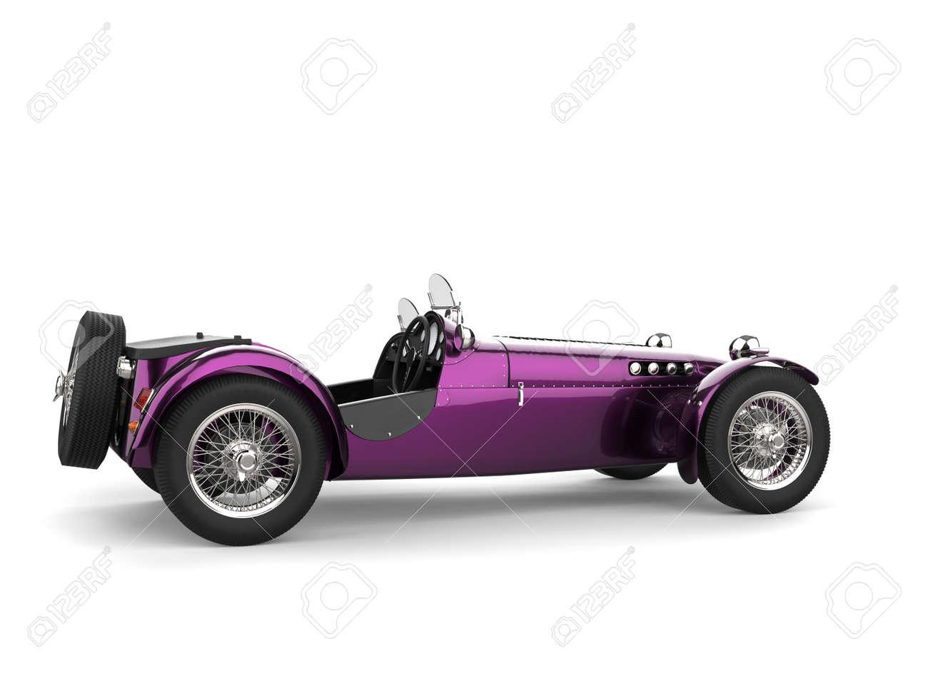 Metallic purple vintage open wheel sport racing car - 159077590