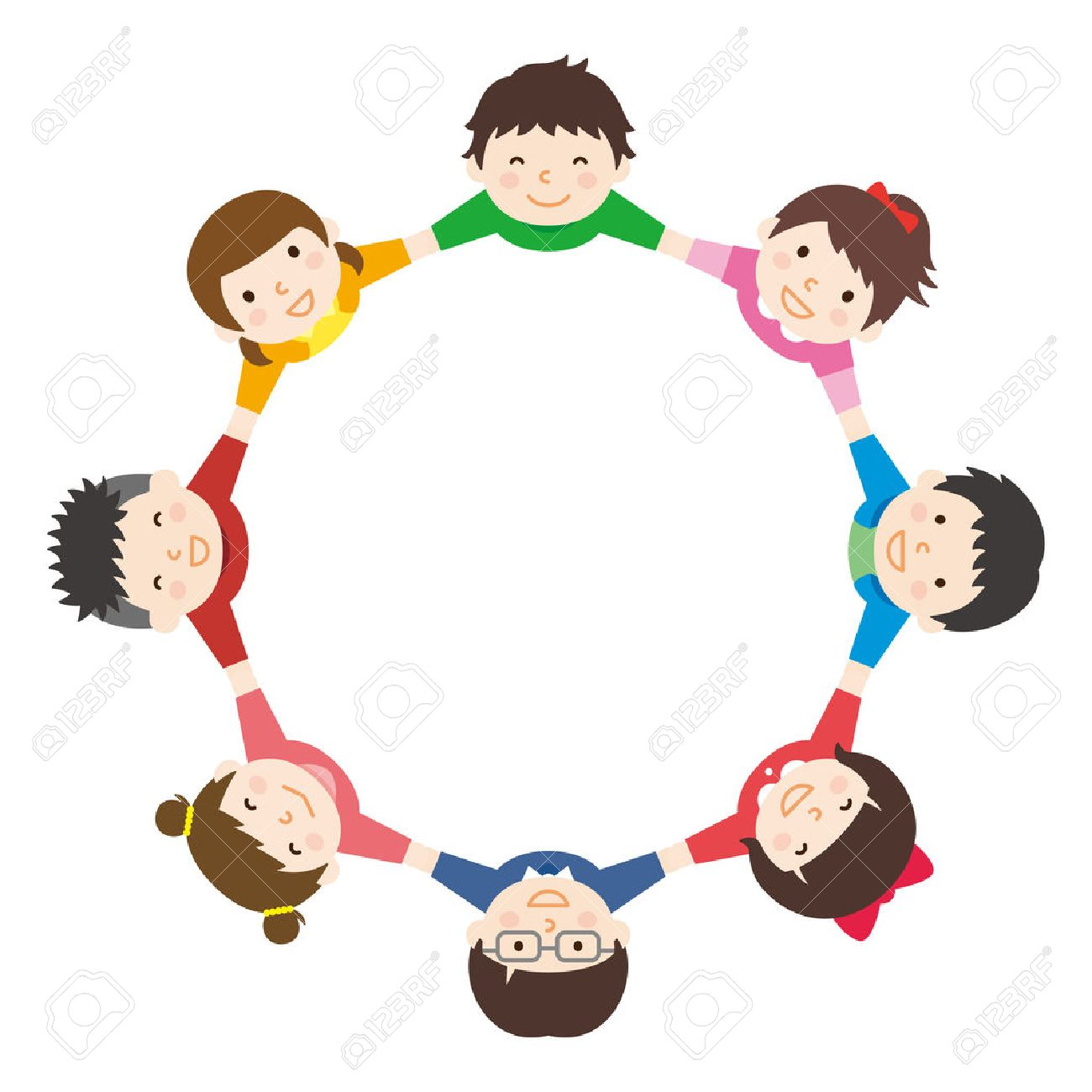 children hold hands royalty free cliparts vectors and stock rh 123rf com Helping Hands Clip Art Giving Hands Clip Art