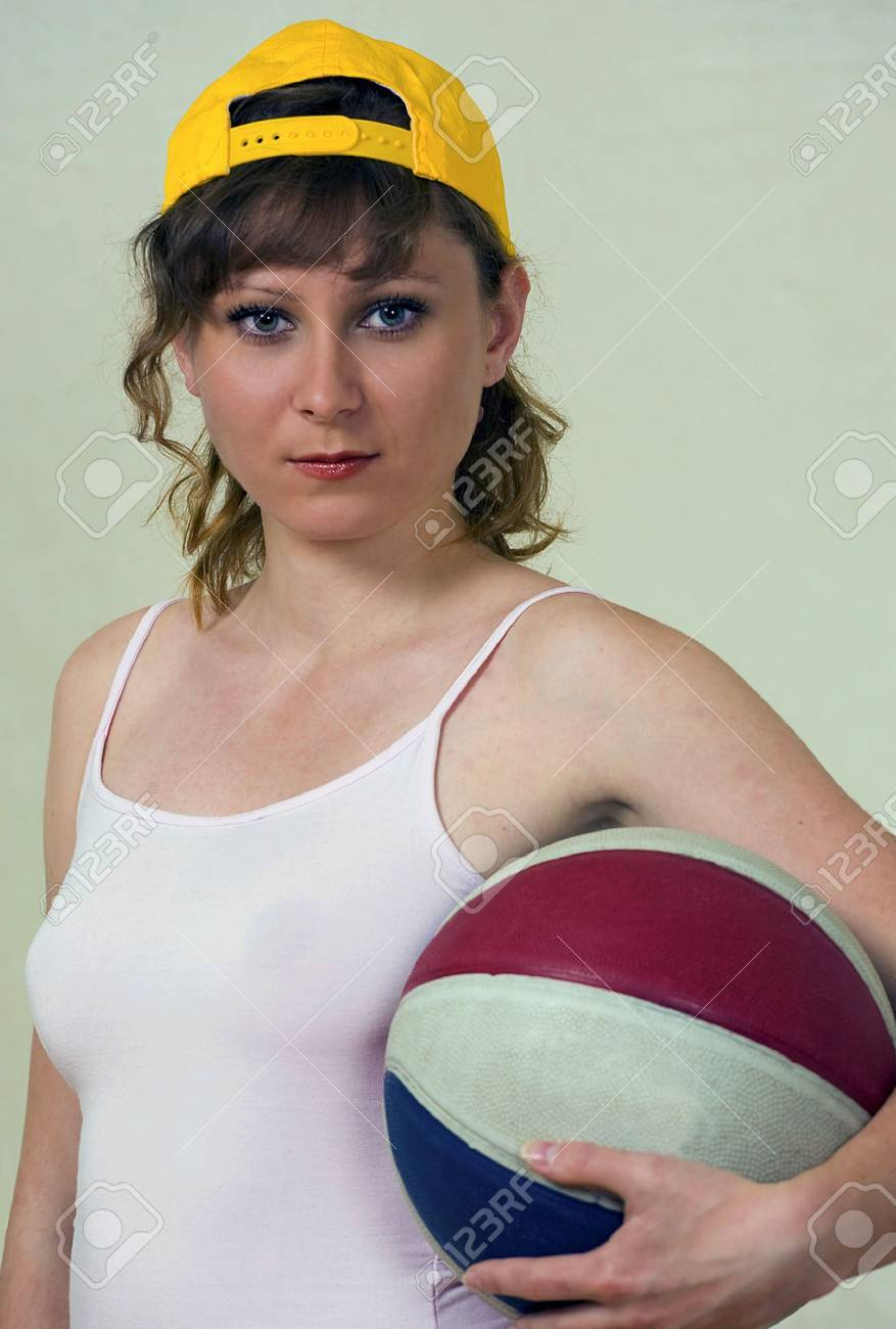 Young woman with basketball Stock Photo - 7093461