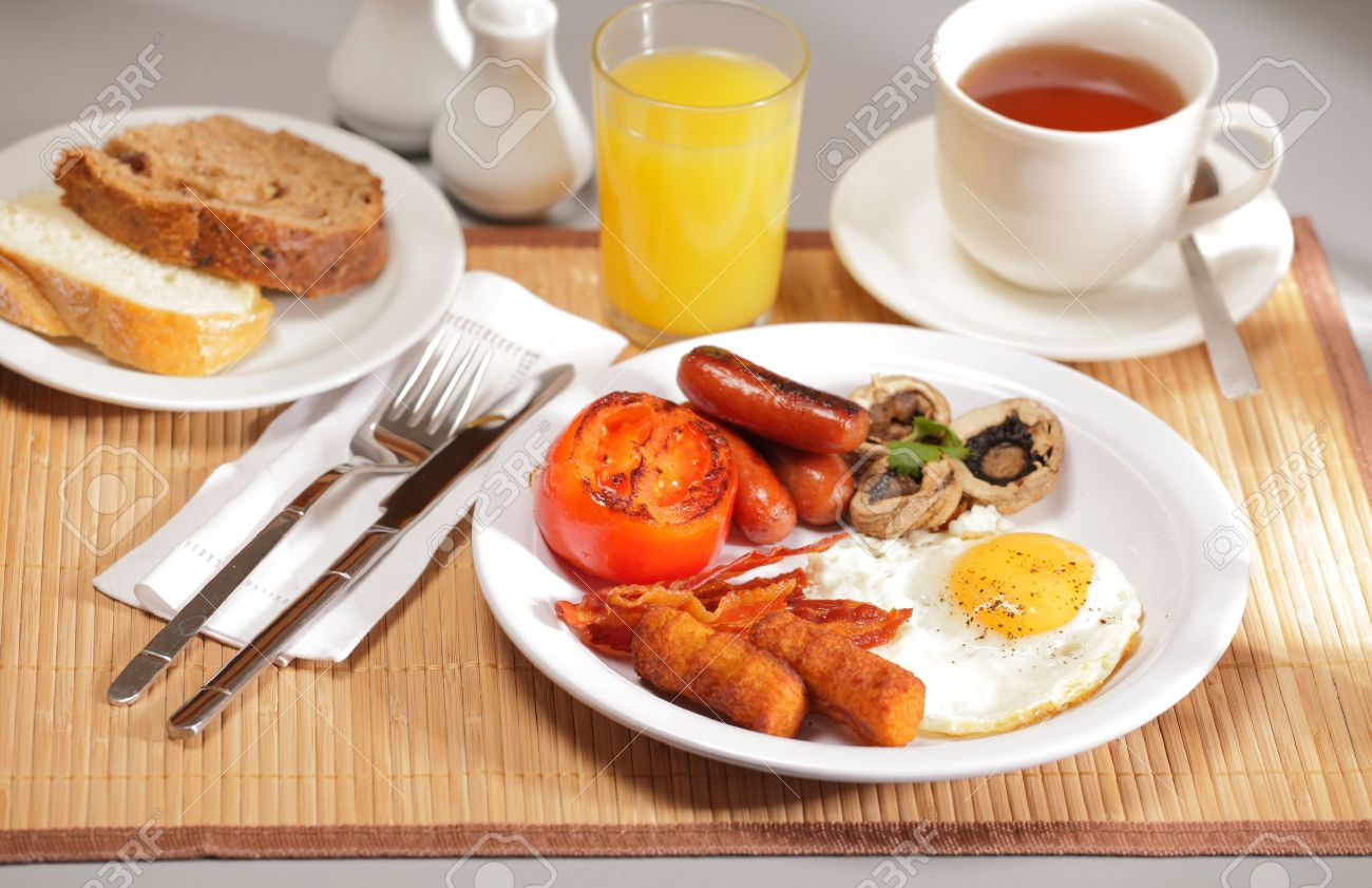 Table Setting For Breakfast Delicious Breakfast On Table Setting Stock Photo Picture And