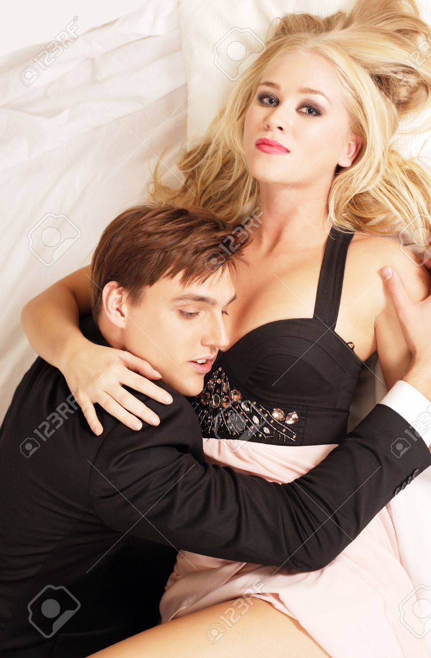Beautiful woman with lover Stock Photo - 10842074