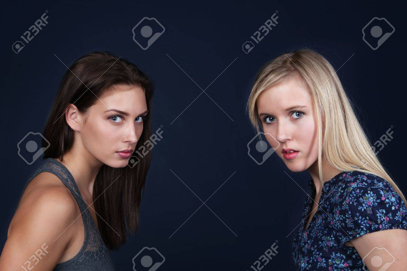Two angry upset young women Stock Photo - 11597307