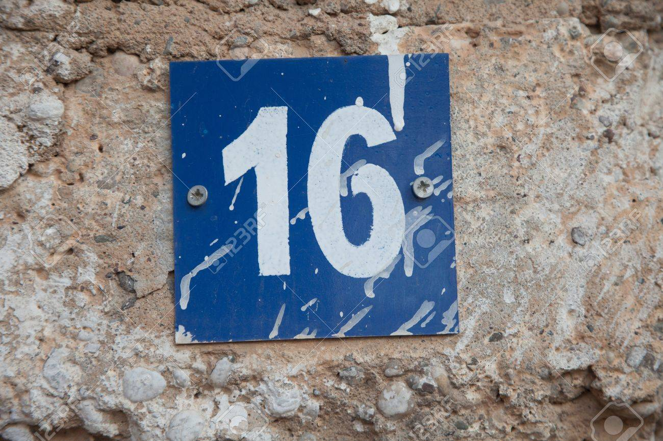 delightful number 16 house #3: house number 16 Stock Photo - 22059558